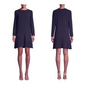 MAXMARA Navy Addotto Shift Dress 12 NWT